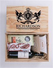 Personalised Coat of Arms Man Crate