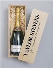 Personalised Printed Bubbly Crate