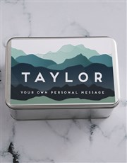Personalised Hills And Hills Snack Tin
