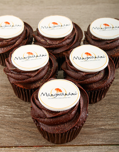 year-end: Chocolate Cupcakes with Your Logo!