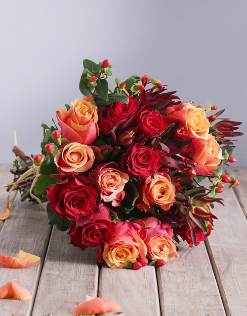 halloween: Cherry Brandy and Red Roses with Safari Bouquet!