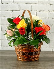 Picture of Country Mixed Rose Display!