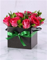 Picture of Beautiful Box of Cerise Roses!