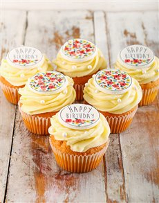 bakery: Happy Birthday Cupcakes for Her!