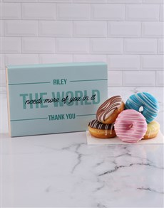gifts: Personalised Thank You Doughnuts!