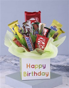 gifts: Happy Birthday Mixed Chocolate Bouquet!