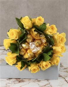 gifts: Yellow Rosy Chocolate Arrangement!