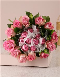 gifts: Pink Rosy Chocolate Arrangement!