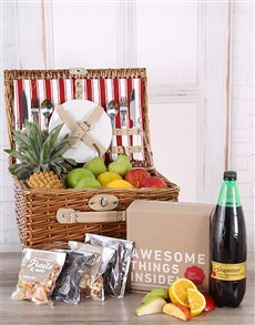 gifts: Fruit, Snack, and Grapetiser Picnic Basket!