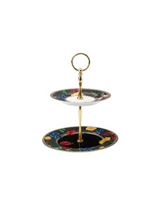 brand: Maxwell & Williams Two Tiered Black Cake Stand!