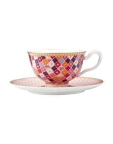 brand: Maxwell & Williams Kasbah Cup and Saucer Rose!