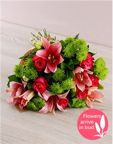 flowers: Lily and Rose Bouquet!