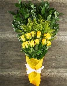 flowers: Mystical Yellow Rose Bouquet!