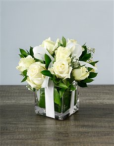 gifts: Small White Rose Surprise!