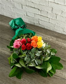 flowers: Mystical Rainbow Roses in Tissue Paper!