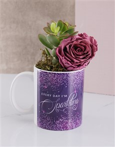 gifts: Sparkle Everyday Rose and Succulent Mug!