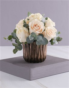 gifts: Cream Roses in Bronze!