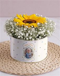 gifts: Personalised Happy Easter Single Sunflower!