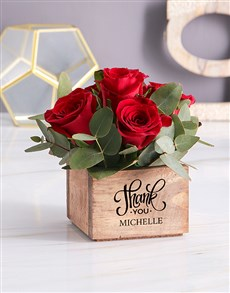 flowers: Personalised Red Rose Heaven In Wooden Box!