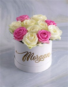 gifts: Personalised Gorgeous Mixed Flowers Hat Box!