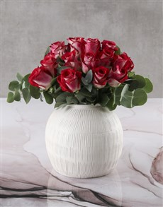 gifts: Classic Variegated Rose Vase!