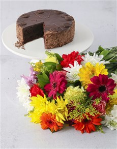 gifts: Flowers And Cake Mix!