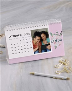 gifts: Personalised Pretty Peony Desk Calendar!