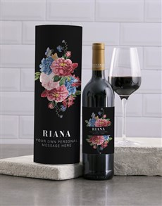 gifts: Personalised Manila Floral Wine And Tube Gift!