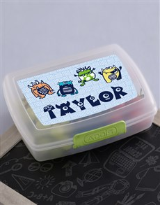 gifts: Personalised Monster Lunch Box!