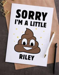 gifts: Personalised Oh Poo Apology Card!