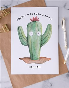 gifts: Personalised Cactus Apology Card!