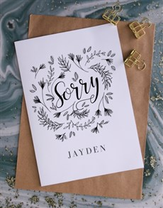 gifts: Personalised Floral Apology Card!