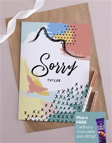 gifts: Personalised Abstract Apology Card!