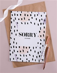 gifts: Personalised Spotty Sorry Card  !