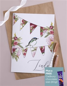 gifts: Personalised Bird Design With Name Card !
