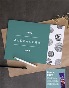gifts: Personalised Blue And Dark Designed Card!
