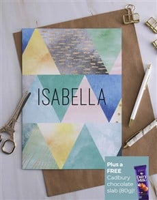 gifts: Personalised Geometric Style Greeting Card!