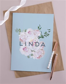 gifts: Personalised Beautiful Blooms Card!