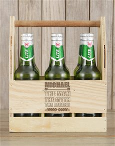 gifts: Personalised Legend Castle Beer Caddy!