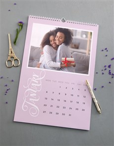 gifts: Personalised Pastel Photo Wall Calendar!