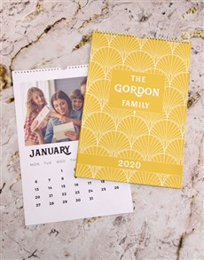 gifts: Personalised Sunshine Family Wall Calendar!