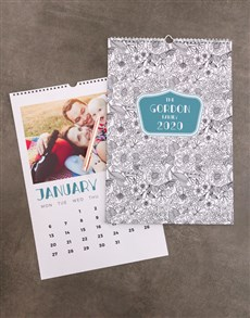gifts: Personalised Floral Sketch Wall Calendar!