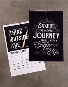 gifts: Personalised Greatest Journey Wall Calendar!
