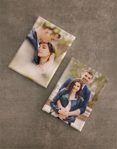 gifts: Personalised Canvas Set Of Two!