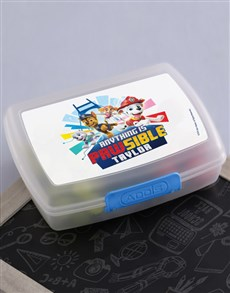 gifts: Personalised Paw Patrol Lunchbox!
