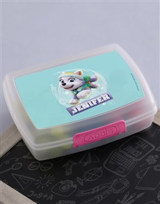 gifts: Personalised Paw Patrol Everest Lunchbox!