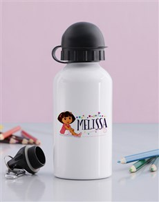 gifts: Personalised Dora Water Bottle!