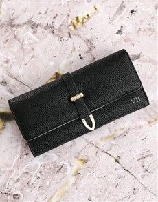 gifts: Personalised Large Black Purse!