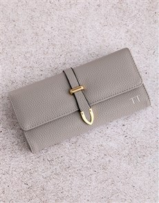 gifts: Personalised Grey Long Purse!