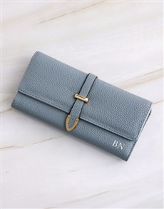 gifts: Personalised Blue Long Purse!
